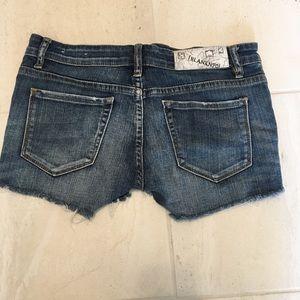 Blank NYC denim cut off shorts size 27
